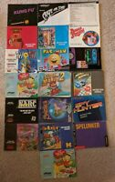 Lot of Nintendo Entertainment System * NES * Instruction Manual Booklets Posters