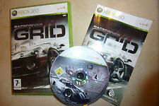 XBOX 360 RACING RACE GAME RACEDRIVER GRID (1) +BOX INSTRUCTIONS COMPLETE PAL GWO