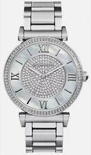 Michael Kors MK3331 Ladies Catlin Grey Pearl Crystal Dial Silver Tone  Watch