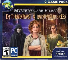 Mystery Case Files KEY TO RAVENHEARST + RAVENHEARST UNLOCKED Hidden Object NEW