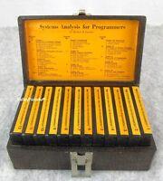 Vnt 1971 AMR Systems Analysis  Programmers Cassette Tape Set Herbert B. Lassiter