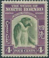 Malaysia North Borneo 1939 SG306 4c Proboscis Monkey MLH