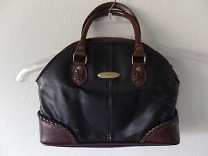 Liz Claiborne Vintage Small Clutch Purse Black & Brown Hobo Bag GVC