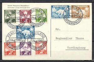 SANSK PEARYLAND EKSPEDITION - PEARYLAND 1.AUG.1948 NORDGRONLAND (full set)  Hc13