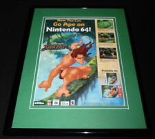 Tarzan 1999 N64 Game Boy Framed 11x14 ORIGINAL Advertisement