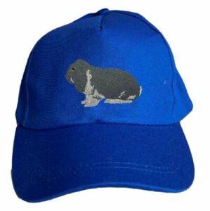 Basecap bestickt .. Kaninchen Dt. Widder blau weiß MB2025