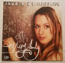 Ingrid Michaelson Autographed Everybody White Vinyl LP Beckett COA