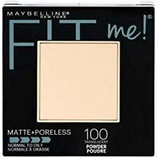 Maybelline Matte+Poreless Fit Me Pressed Powder Compact #100 Translucent, 0.29oz