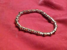 8 INCH STERLING SILVER AND CZ TENNIS BRACELET #2