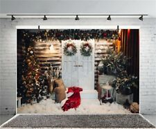 Christmas Decors Yard 7x5ft Photography Vinyl Backgrounds Xmas Photo Backdrops