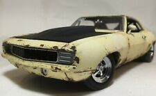 1969 Camaro Chevrolet Chevy Unrestored Barn Find Rat Rod Drag GMP 1/18 Custom