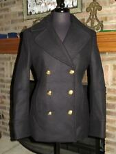 New Genuine BALMAIN X H&M Fitted Double Breasted Black Peacoat Coat 10