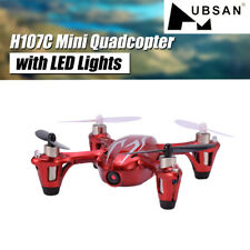 Hubsan H107C X4 Telecamera HD 720P 2.4G 4CH RC Quadcopter Drone + luci led ROSSO