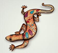 Wanddekoration Gecko Wandbild Metallbild Dekoration