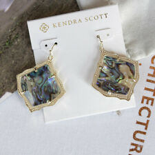 Kendra Scott Kirsten In Abalone Shell Gold Plated Drop Dangle Earring NEW