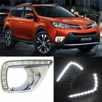 2pcs Brand Auto LED Daytime Running Lights DRL Fit For Toyota RAV4 2014