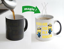 You are One in a Minion Magic Color Changing Heat Sensitive Tea Cup Coffee Mug