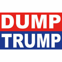 "Dump Donald Trump Red Blue White Joe Biden 2020 5"" Vinyl Bumper Sticker Decal"