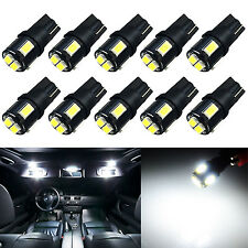 10x 194 Dome Marker High Stop License Courtesy Engine Cargo White LED Light Bulb