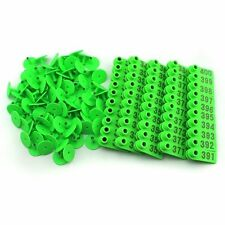 301 400 Green Number Plastic Livestock Ear Tags Animal Tag For Goat Sheep Pigs