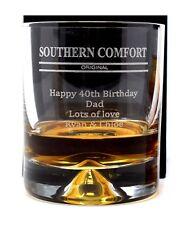 Personalised/Engraved Southern Comfort Dimple Glass Tumbler Gift Mum/Dad/Nan
