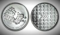 2000 Canada Millennium Proof Like Gem Medallion Token!!