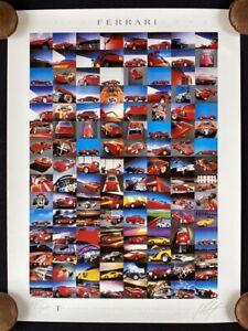 Ltd Ed Signed Günther Raupp FERRARI 10 Years Calendar Prints 1985-1994 Poster