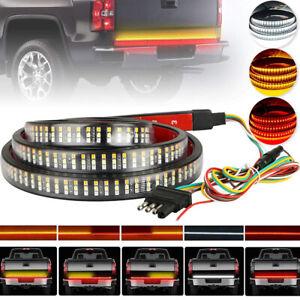 "60"" 3-Row 504 LED Truck Tailgate Light Bar Strip Reverse Brake Signal Tail Lamp"