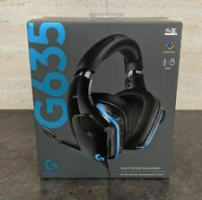 NEW Logitech G635 Lightsync RGB Gaming Headset 7.1 Surround Sound Microphone USB