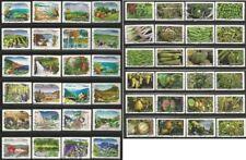 Lot 4 séries Autoadhésifs : fruits et légumes & Flore des Régions - oblitérés