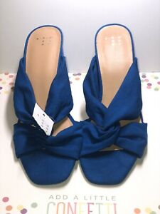 And Ea Wy Shoes Sandals Blue Size 9.5 Z