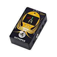 Ortega Octopus ❘ cromático suelo sintonizador ❘ electricidad de distribución ❘ pedal board ❘ Tuner