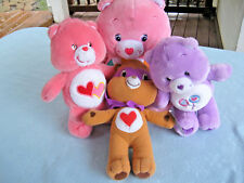 A Lot Of 4 Care Bears Hopeful Heart, Tender Heart, Share & Love-A-Lot