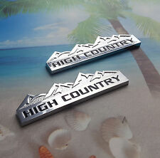 2X NEW GM 2014-2015-2016 SILVERADO HIGH COUNTRY FENDER TAILGATE EMBLEMS BADGES