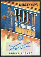2018-19 NBA Hoops Hot Signatures Rookies #HSR-LS Landry Shamet Auto 76ers