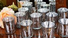 30 Pieces Silver Effect Mercury Glass Tea Light Candle Holders Wedding Decor