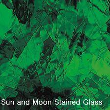 """8 X10"""" Spectrum Glass Sheet S 123A - Medium Green Artique Stained Glass Sheet"""