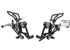 Pedane regolabili monoposto nero Ducati Monster 696 08-14 CNC