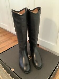 Frye Womens Melissa Button 2 Extended Calf Knee High Riding, Black, Size 9.0