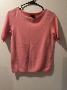 Talbots 100% Cashmere short sleeve cashmere sweater in coral size SP