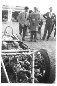 AINTREE 1962 PORSCHE 804 ORIGINAL PERIOD PADDOCK PHOTOGRAPH DAN GURNEY BONNIER