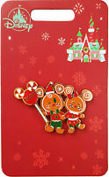 Disney Store Mickey Minnie Mouse Gingerbread Xmas Holiday Cheer Pin Badge 2020
