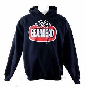Gearhead Brand Logo Hoodie Hot Rods Punk DIY Greaser Rock'n'Roll Mens Sweatshirt