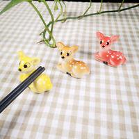 Ceramic Chopstick Rest Sika Deer Cartoon Spoon Fork Rack Stand Pen Holder Home