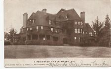 1910 Postcard of Large Mansion at San Mateo CA