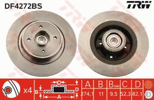 TRW Brake Rotor Rear DF4272BS fits Renault Scenic 1.6, 2.0 16V (JA1B, JA1D) 1...