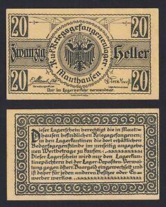 Austria - 20 Heller Lagergeld Mauthausen 1915 (18) Spl XF+ B-06