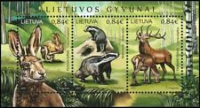 Lithuania 2017 Fauna: Game - Wild Mammals. Hare Badger Stag. Souvenir Sheet, Mnh