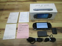 Sony PSP 1000 Console Piano Black w/box Japan o701