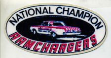 """National Champion Ramchargers (Dodge, MOPAR) Decal 8 1/4"""" x 4 1/4"""" AWESOME Decal"""
